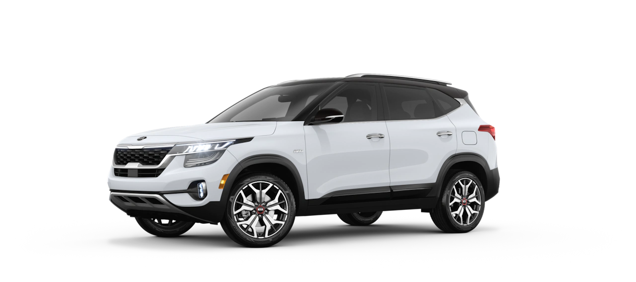 2021 Kia Seltos Exterior Clear White/Cherry Black