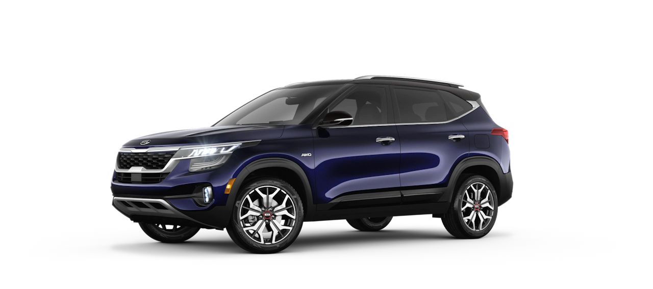 2021 Kia Seltos Exterior Dark Ocean Blue/Cherry Black