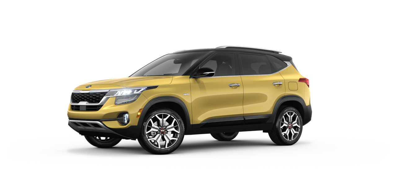 2021 Kia Seltos Exterior Starbright Yellow/Cherry Black